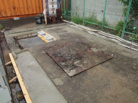 倉庫ベースコンクリート
