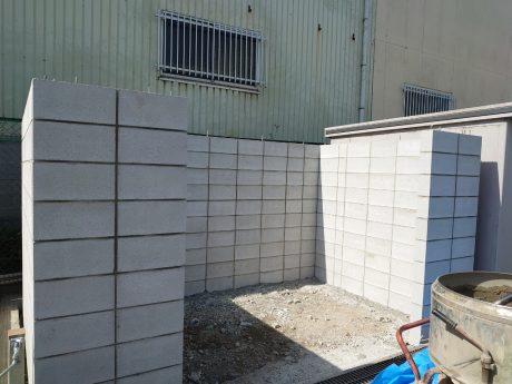 ゴミ庫のブロック完了