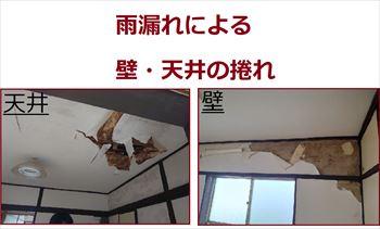 内部の壁・天井捲れ
