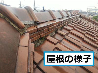 屋根上の様子