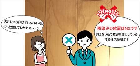 堺市中区にて連棟住宅で雨漏り!原因は屋根勾配と防水塗装の劣化