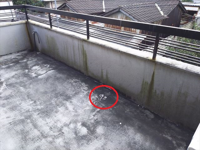 バルコニー防水不具合