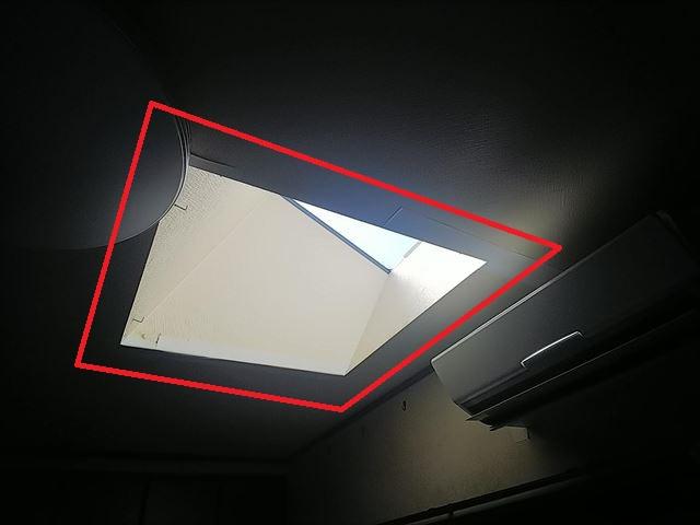 天窓雨漏り室内確認
