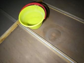 天井裏雨漏り状況