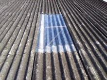 スレート屋根明り取り施工完了