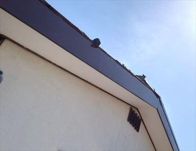 塗装完了 軒天・破風板