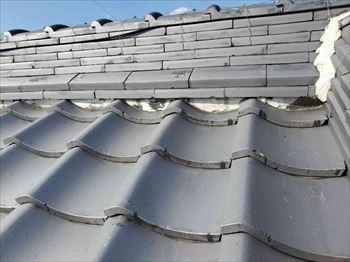 大屋根 漆喰 劣化