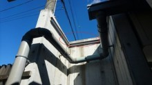 へこみ部分の屋根下地取付
