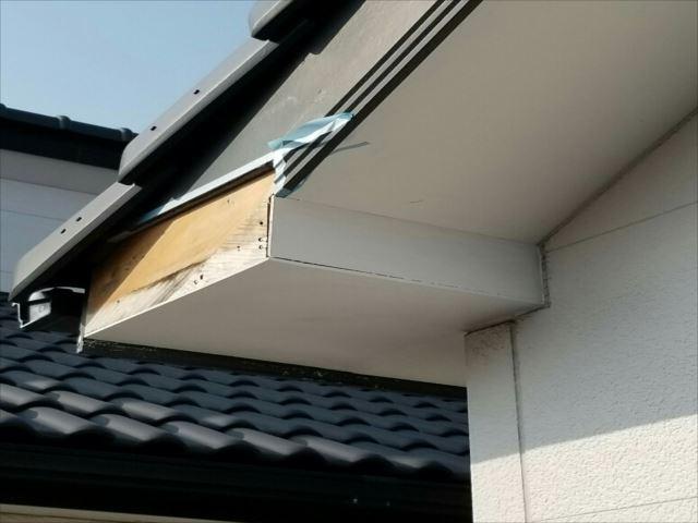 破風板補修工事①