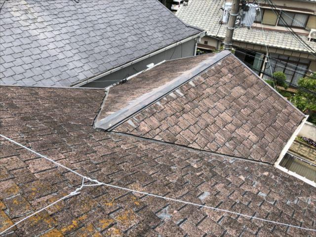雨漏れ箇所上部 棟板金