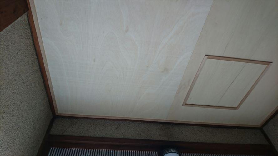 天井張り替え点検口設置完了
