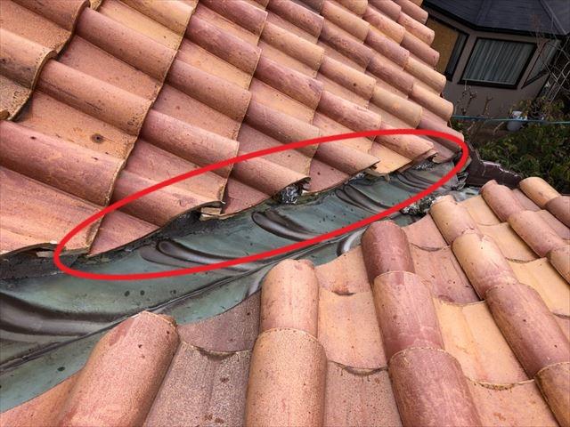 屋根材飛散