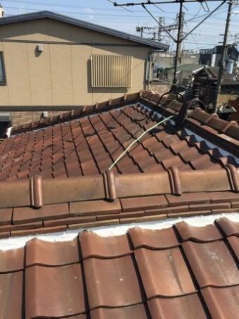 大屋根冠・のし・漆喰完了