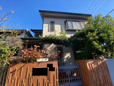 高石市で台風被害に遭ったカーポート屋根張替と屋根瓦の補修工事
