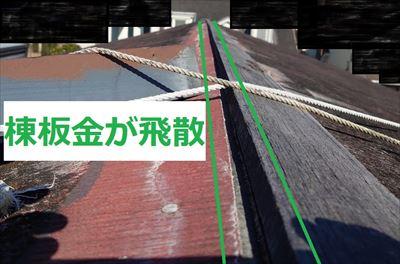 堺市南区で経年劣化の進行や台風被害によってお住いに不具合が発生