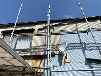 堺市堺区|雨樋の劣化放置は大変危険です!軒樋と竪樋補修工事