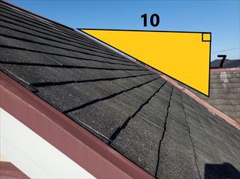 屋根勾配 7寸勾配