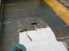 床ガラス繊維貼付
