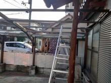 カーポート屋根 波板撤去完了