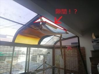 ポリカーボネート板破損状況