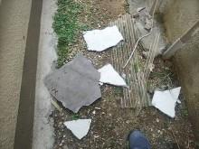 外壁モルタル剥落状況