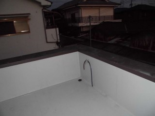 テラス雨漏り改修完了