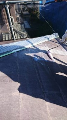 板金養生とシーラー塗布