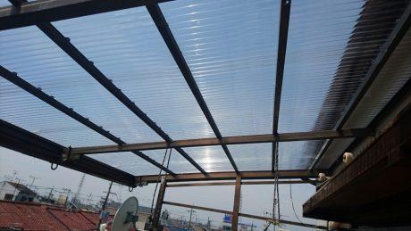 ポリカー屋根張替え完了
