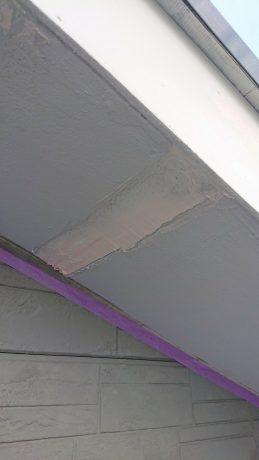 軒天塗装下地処理