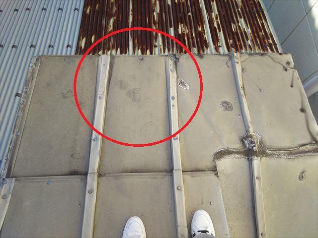 屋根材既存部分補修