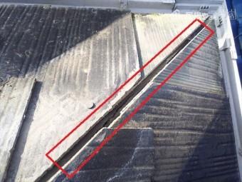 屋根棟板不良ヵ所補修