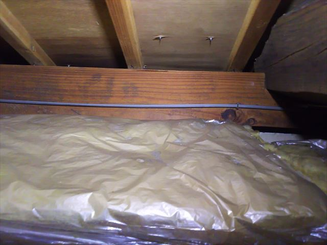 雨漏り天井裏