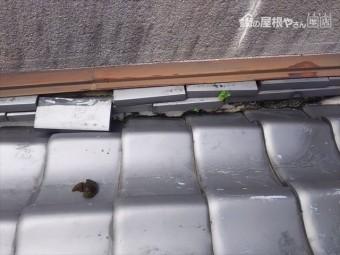 雨漏り部瓦状況