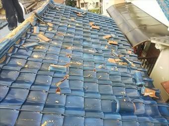 屋根瓦破損状況