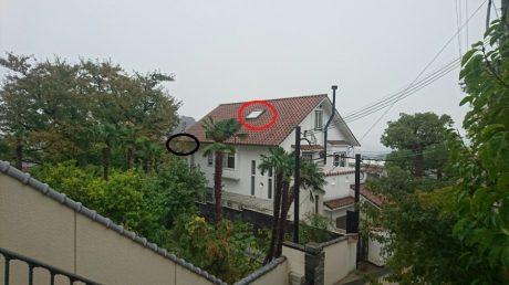 和泉市にて台風被害を受けた家屋調査に伺いました。