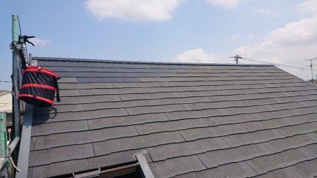 屋根上作業完了