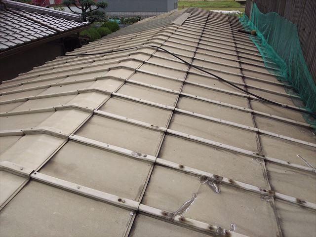 鋼板屋根全体状況
