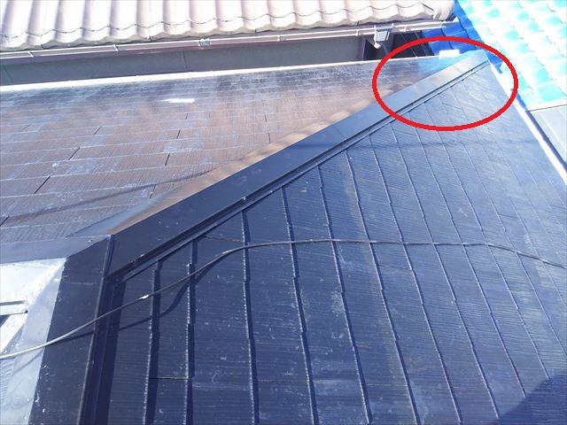 屋根隅棟状況