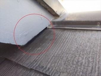 屋根接点-隙間