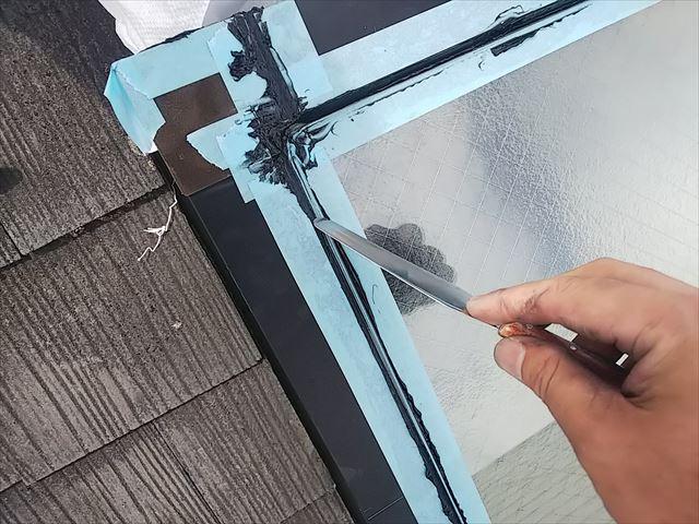 天窓ガラスシール押え