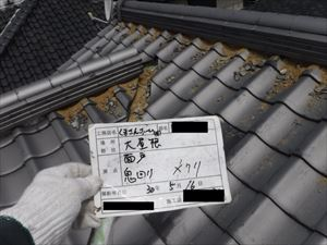 大屋根 漆喰詰め直し工事