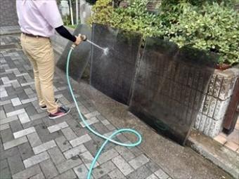 テラス 平板屋根 洗浄