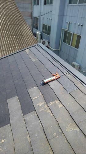 屋根飛散部修繕完了