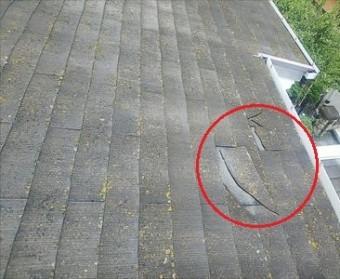 スレート 割れ 台風被害
