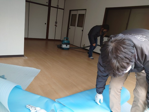 耐震改修 リフォーム 工事後の清掃