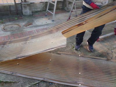 カーポート屋根 波板回収