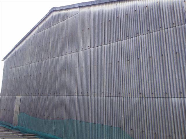 スレート波板屋根修繕