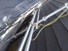 屋根鋼板一文字葺き完了