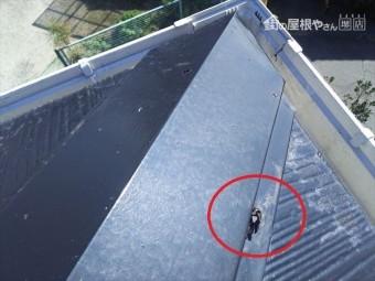 屋根隅棟棟板状況