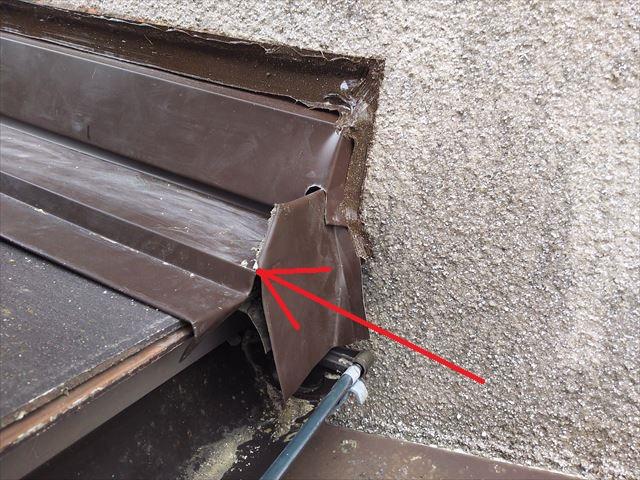 屋根・壁取合い板金コーキング